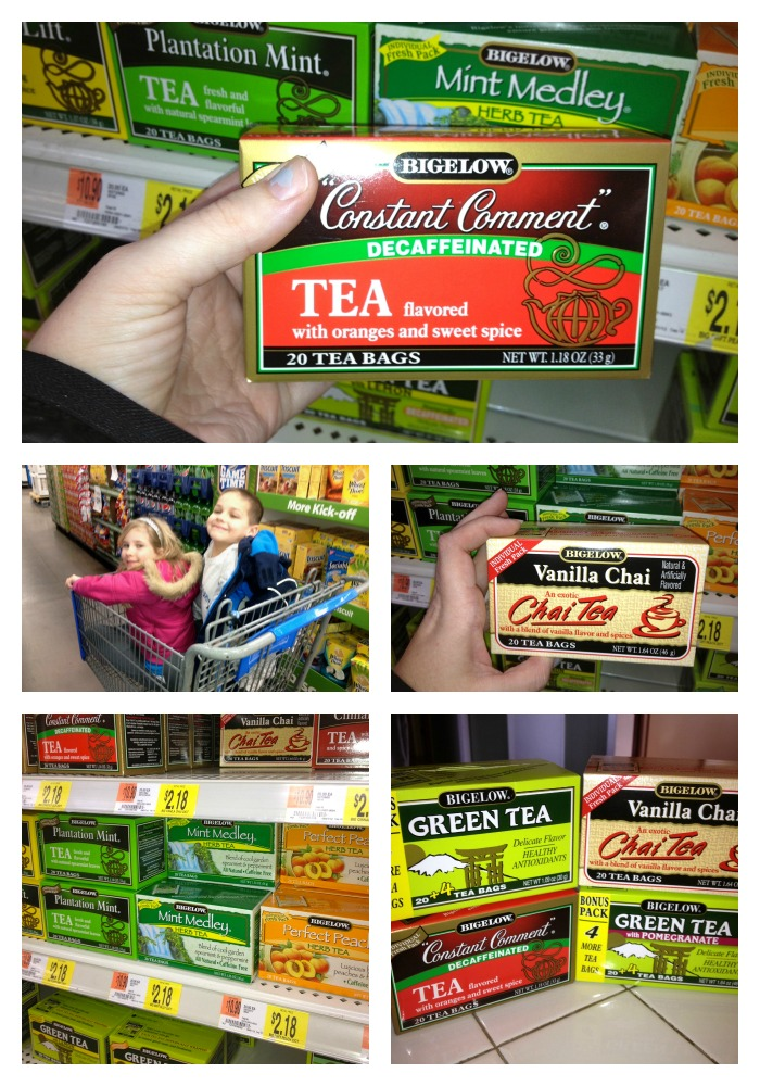 Shopping for Bigelow Tea at Walmart