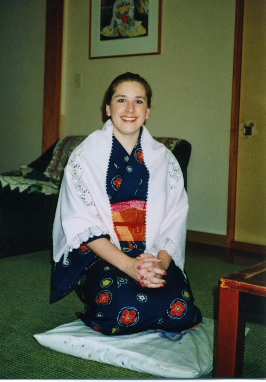 In Japan wearing my Kimono