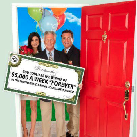 Publishers Clearing House Sweepstakes ~ Win $5,000A Week Forever