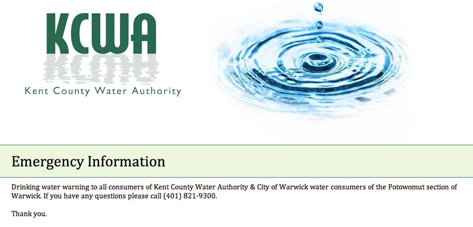 Kent County Water Authority Announcement