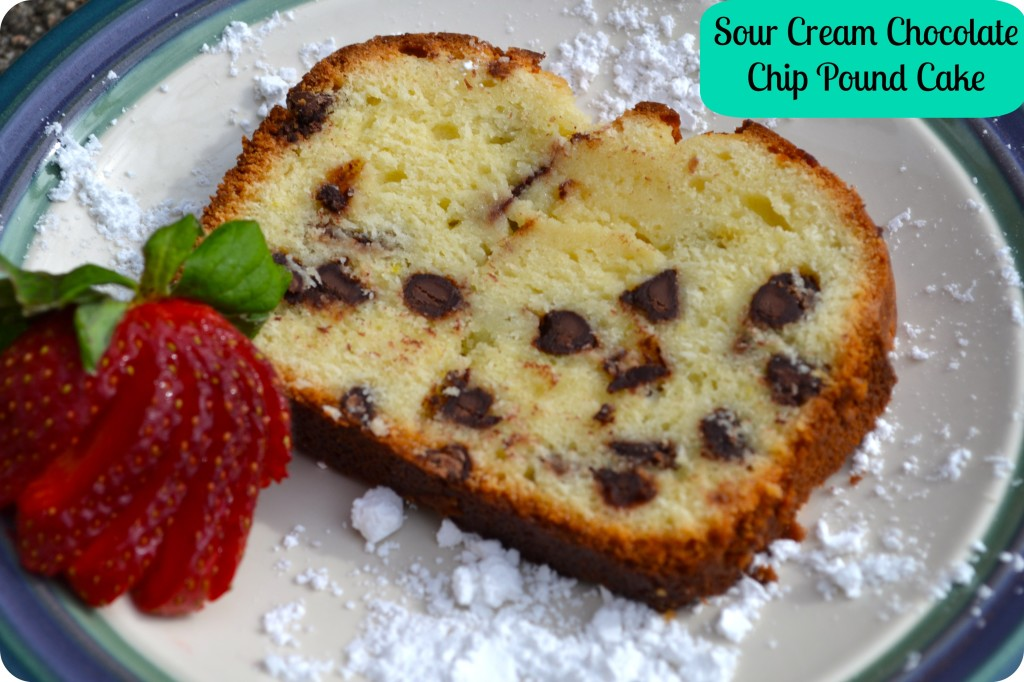 Sour Cream Chocolate Chip Pound Cake