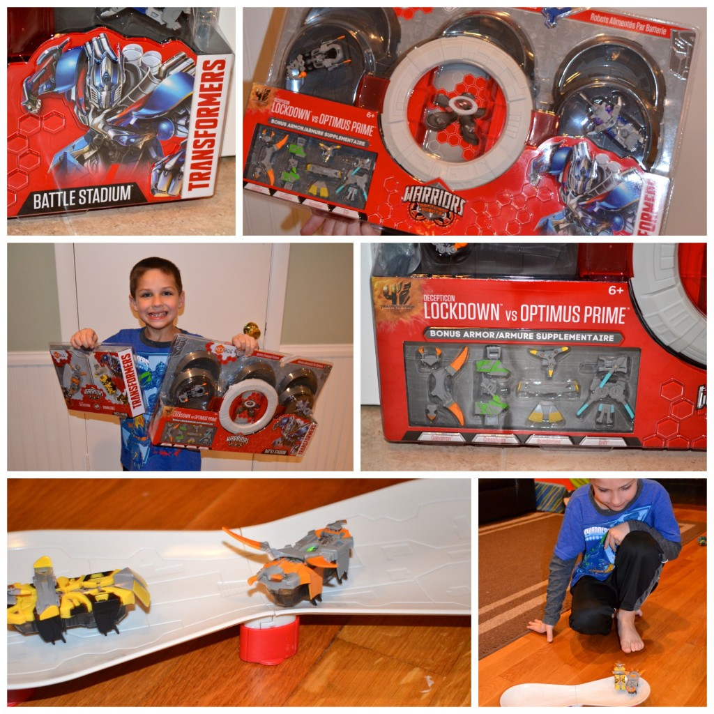 Warriors New Stadium Opening: Transformers Hexbug: Race Into Battle