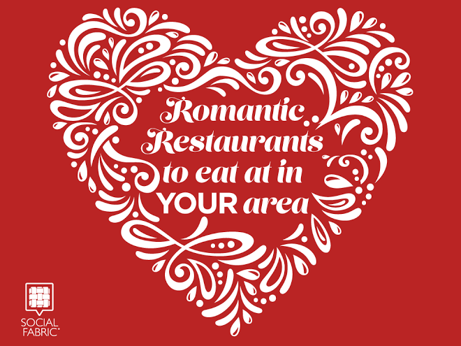 Use this list to find romantic restaurants in your area.