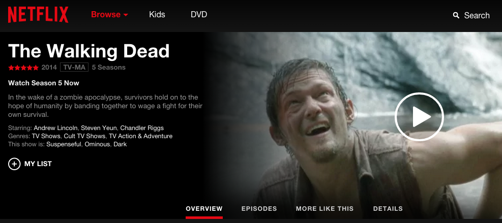 The Walking Dead on Netflix